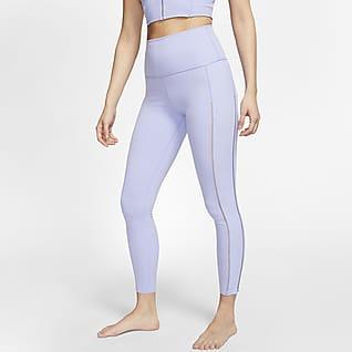 Nike Yoga Luxe Ribbade leggings Infinalon i 7/8-längd för kvinnor