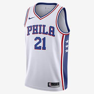 费城 76 人队 (Joel Embiid) Association Edition Nike NBA Jersey 男子球衣