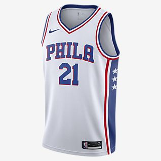 费城 76 人队 (Joel Embiid) Association Edition Nike NBA Jersey 男子球衣