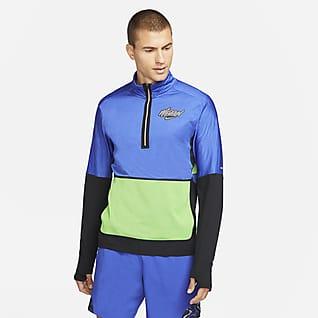 Nike Dri-FIT Element Wild Run Kurzarm-Laufoberteil mit Grafik und Halbreißverschluss für Herren