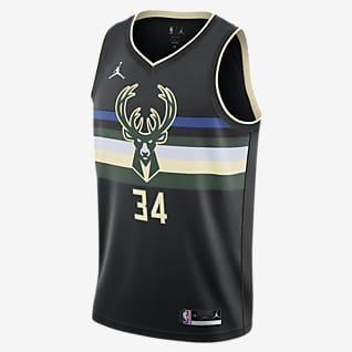 Giannis Antetokounmpo Bucks Statement Edition 2020 Jordan NBA Swingman-drakt