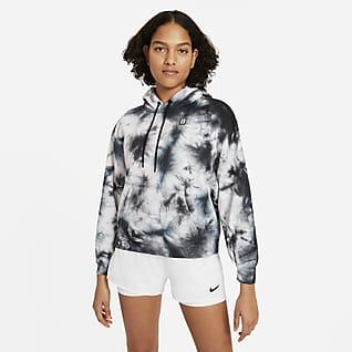 NikeCourt Tennishuvtröja med batiktryck för kvinnor