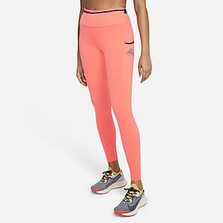 Nike Epic Luxe Leggings para carreras en sendero de tiro medio para mujer