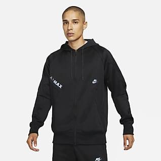 Nike Air Max Hættetrøje med lynlås i fuld længde til mænd