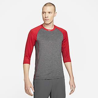 Nike Pro Dri-FIT Camiseta de béisbol de manga 3/4 para hombre