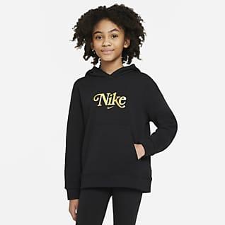 Nike Sportswear Club Fleece Hættetrøje til større børn (piger)