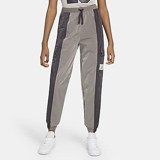 Jordan Essentials กางเกงขายาวผู้หญิงแบบทอ
