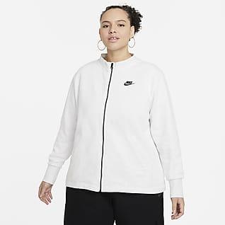 Nike Sportswear Essential Cárdigan de tejido Fleece para mujer talla grande
