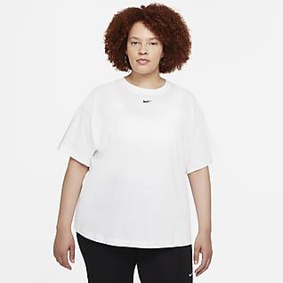 Nike Sportswear Essential Overdimensioneret, kortærmet overdel (plus size) til kvinder