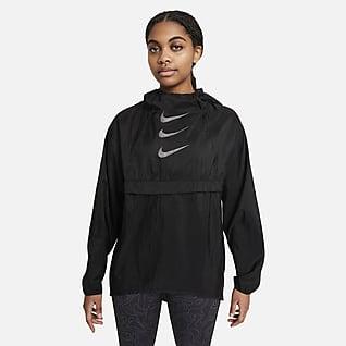 Nike Run Division Sammenfoldelig løbejakke til kvinder