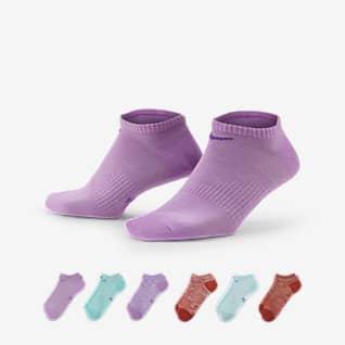 Nike Everyday Calcetines de entrenamiento para mujer Lightweight No-Show (6 pares)