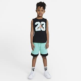 Jordan Conjunto de camiseta de tirantes y shorts para niños talla pequeña