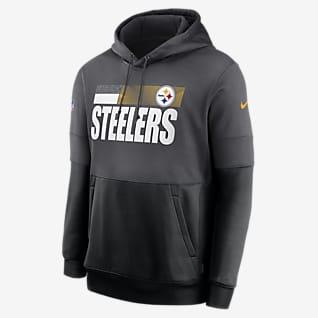 Nike Therma Team Name Lockup (NFL Pittsburgh Steelers) Kapucnis, belebújós férfipulóver