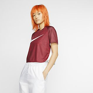 Nike Sportswear Dri-FIT Unité Totale Women's Cropped Short-Sleeve Top