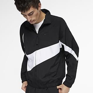 Nike Sportswear เสื้อแจ็คเก็ตผู้ชายแบบทอ