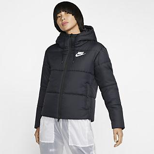 nike black jacket with hoodi