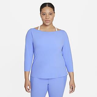 Nike Yoga Luxe Prenda para la parte superior de manga larga para mujer (talla grande)