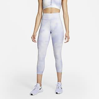 Nike One Icon Clash Kort leggings med mellomhøyt liv til dame