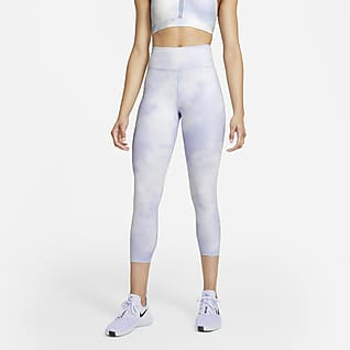 Nike One Icon Clash Korte legging met halfhoge taille voor dames