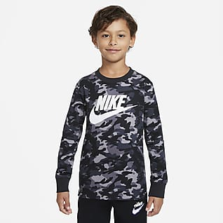 Nike Little Kids' Printed Long-Sleeve T-Shirt