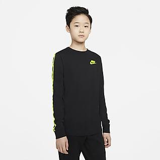 Nike Sportswear Langermet T-skjorte til store barn (gutt)