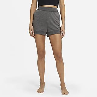 Nike Yoga Calções em tecido moletão para mulher