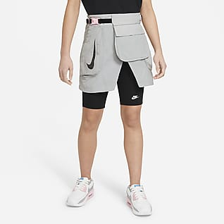 Nike Big Kids' (Girls') Convertible Cargo Skirt