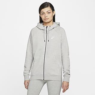 Nike Sportswear Essential Sweat à capuche en tissu Fleece à zip pour Femme