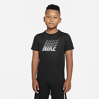 Nike Dri-FIT Mintás edzőpóló nagyobb gyerekeknek (fiúk)