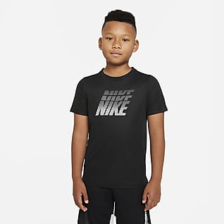 Nike Dri-FIT Träningströja med tryck för ungdom (killar)