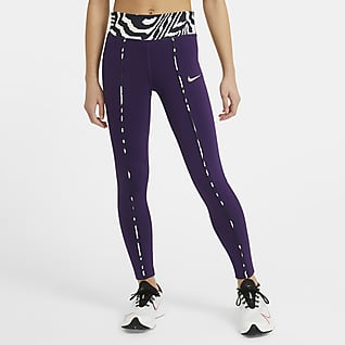 Nike One Big Kids' (Girls') Mid-Rise Printed Leggings