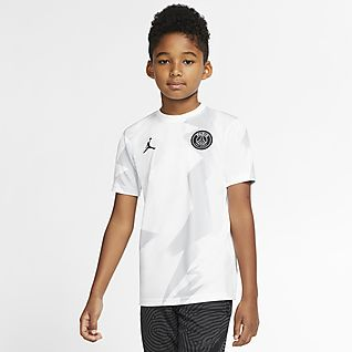 Jordan x Paris Saint-Germain Kids' Short-Sleeve Football Top
