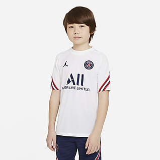 Paris Saint-Germain Strike Home Older Kids' Short-Sleeve Football Top