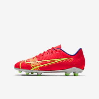 Nike Jr. Mercurial Vapor 14 Club FG/MG Többféle talajra készült stoplis futballcipő gyerekeknek/nagyobb gyerekeknek