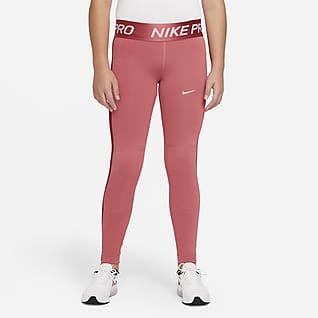Nike Pro Warm Dri-FIT Leggings til store barn (jente)
