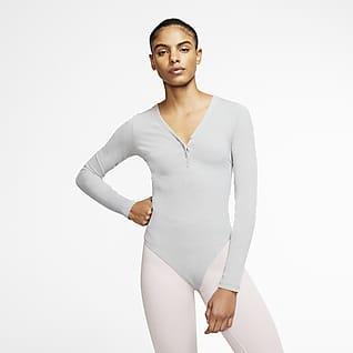 Nike Yoga Luxe Женское боди из ткани Infinalon с длинным рукавом