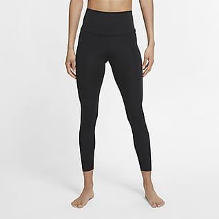 Nike Yoga Dámské 7/8 legíny se zvýšeným pasem