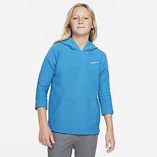 Nike Yoga Dri-FIT Big Kids' Training Hoodie