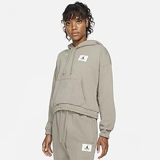 Jordan Essentials Sudadera con capucha de tejido Fleece para mujer