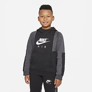 Nike Air Sudadera con gorro sin cierre para niño talla grande
