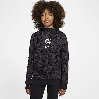 Club América Sudadera con capucha sin cierre de tejido Fleece para niños talla grande