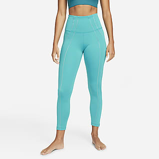 Nike Yoga Dri-FIT Women's High-Waisted 7/8 Metallic Trim Leggings