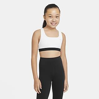 Nike Swoosh Sportovní podprsenka pro větší děti (dívky)