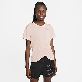 Nike Dri-FIT Run Division Women's Ruched Short-Sleeve Running Top