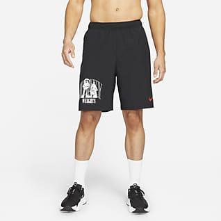 Nike Dri-FIT Calções de treino entrançados com grafismo para homem