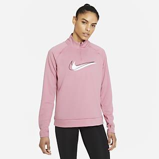 Nike Dri-FIT Swoosh Run Damen-Lauf-Midlayer mit Halbreißverschluss