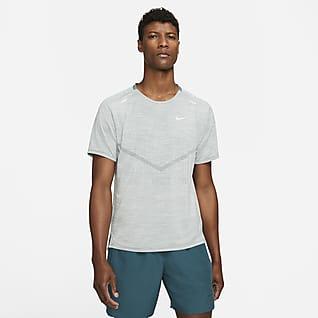 Nike Dri-FIT ADV Techknit Ultra Мужская беговая футболка с коротким рукавом