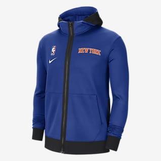 New York Knicks Showtime Męska bluza z kapturem NBA Nike Therma Flex