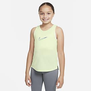Nike Dri-FIT One Treningssinglet  for store barn (jente)