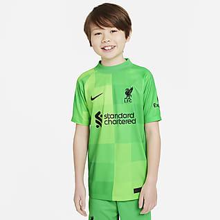 Liverpool F.C. 2021/22 Stadium Goalkeeper Older Kids' Football Shirt